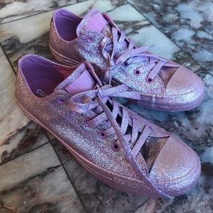 New Converse Glitter Blasted Low Top Chuck Taylors